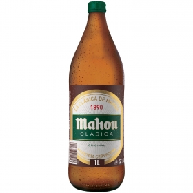 Cerveza Mahou Clásica botella 1 l.