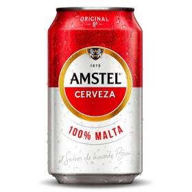 Cerveza Amstel 100% malta lata 33 cl.