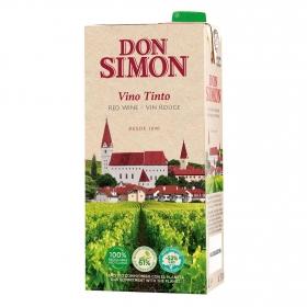 Vino tinto de mesa Don Simón brik 1 l.