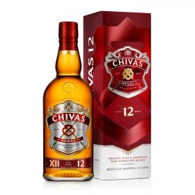Whisky Chivas Regal escocés 12 años 70 cl.