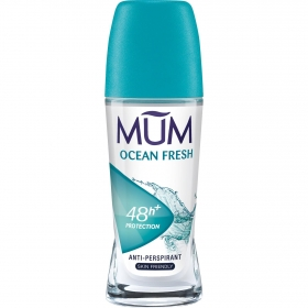 Desodorante roll-on con agentes hidratantes Mum 50 ml.