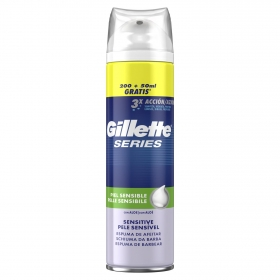 Espuma series piel sensible Gillette 250 ml.