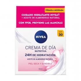 Crema de día hidratante intensiva piel seca y sensible Nivea 50 ml.