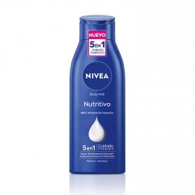 Body milk nutritivo para piel seca Nivea 400 ml.