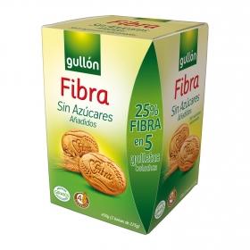 Galletas sin azúcares añadidos Diet Fibra Gullón 450 g.