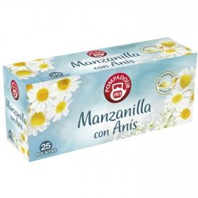 Manzanilla con anís en bolsitas Pompadour 25 ud.