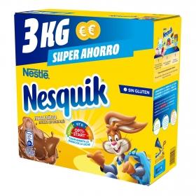 Cacao soluble instantáneo Nestlé Nesquik sin gluten 3 kg.