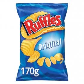 Patatas fritas onduladas Ruffles 170 g.