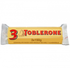 Barrita de chocolate con leche, miel y almendras Toblerone 3 ud.