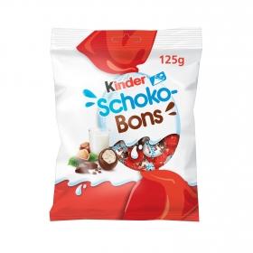 Mini huevos de chocolate rellenos de leche y avellanas Kinder Schokobons 125 g.