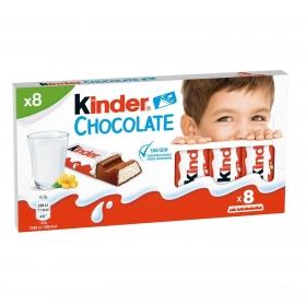 Barrita de chocolate con corazón de leche Kinder 8 ud.