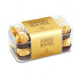Bombones de chocolate con leche y avellana Ferrero Rocher 16 ud.