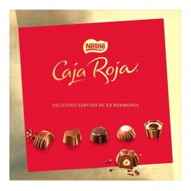 Bombones surtidos de chocolate Nestlé Caja Roja 22 ud.