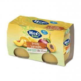Tarrito de frutas variadas desde 4 meses Hero Baby natur pack de 2 unidades de 120 g.