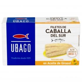 Filetes de caballa del sur en aceite de girasol Ubago 65 g.