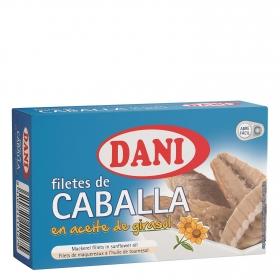 Filetes de caballa en aceite de girasol Dani 75 g.