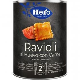 Raviolis al huevo con carne Hero 430 g.