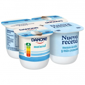 Yogur natural Danone pack de 4 unidades de 125 g.