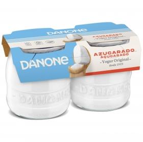 Yogur azucarado natural Danone Original pack de 2 unidades de 135 g.