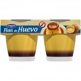 Flan de huevo Danone sin gluten pack de 4 unidades de 110 g.