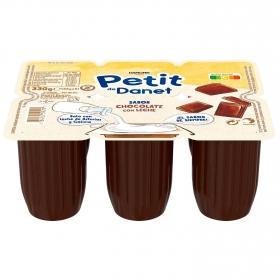 Petit de chocolate con leche Danone Danonino sin gluten pack de 6 unidades de 55 g.