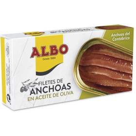 Filetes de anchoas en aceite de oliva Albo 30 g.