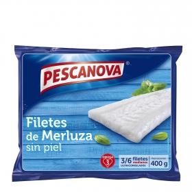 Filetes de merluza sin piel Pescanova 400 g.