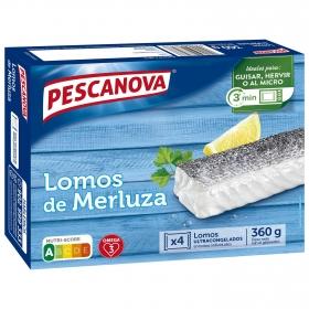 Lomos de merluza Pescanova 400 g.