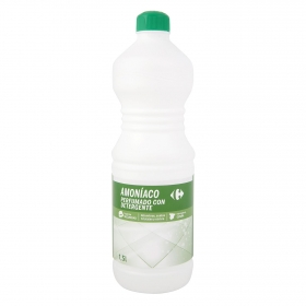 Amoniaco perfumado con detergente Carrefour 1,5 l.