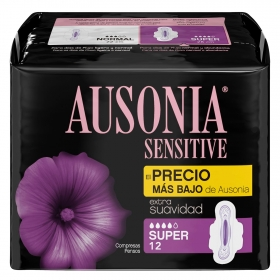 Compresas normal Sensitive Ausonia 12 ud.