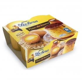 Flan de huevo Nestlé La Lechera pack de 4 unidades de 110 g.