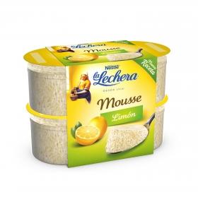 Mousse de limón Nestlé La Lechera pack de 4 unidades de 62 g.