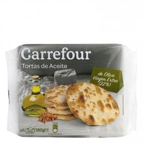 Tortas de aceite Carrefour pack de 6 unidades de 30 g.