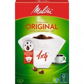 Caja de 40 Filtros Para Cafetera de Papel MELITA 1x4 - Beige
