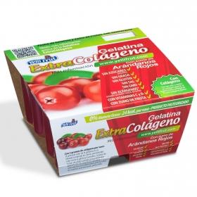 Gelatina con zumo de arándanos rojos Yelli Frut pack de 4 unidades de 100 g.