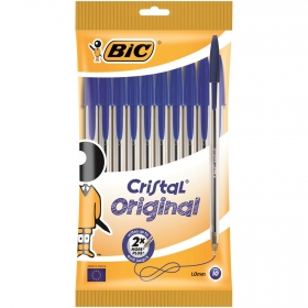 Bolígrafos Bic Cristal Azul 10 uds