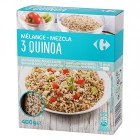 Mezcla de Quinoa blanca, roja y negra Carrefour 400 g.