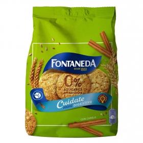 Galletas con canela sin azúcares añadidos Digestive Fontaneda 250 g.