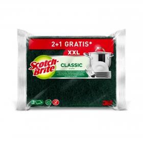 3 Estropajos Classic XXL Scotch Brite - Verde