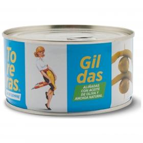 Guilda aliñada con aceite de oliva y anchoa Kimbo 330 g.