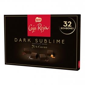 Bombones surtidos de chocolate negro 70% sublime Nestlé Caja Roja 32 ud.