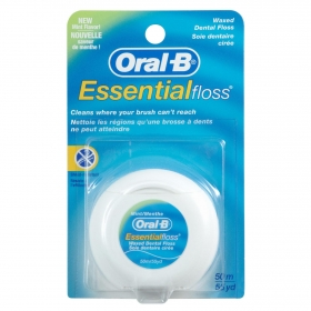 Seda dental Essencial Floss Cera/Menta Oral-B 50 metros.