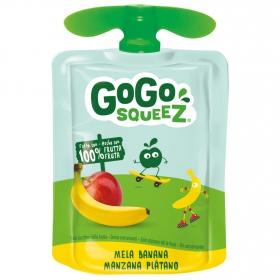 Preparado de manzana y plátano Gogosqueez bolsita de 90 g.
