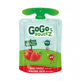Preparado de manzana y fresa Gogosqueez bolsita de 90 g.