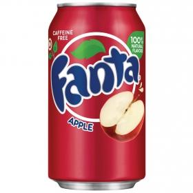 Refresco de manzana Fanta con gas lata 33,5 ml.