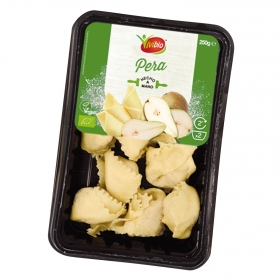 Pasta ecológica rellena de pera Vivibio 250 g.