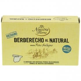 Berberechos al natural De Nuestra Tierra 63 g.