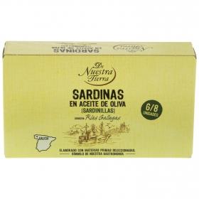 Sardinas en aceite de oliva De Nuestra Tierra 60 g.