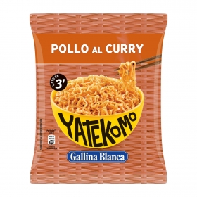 Fideos orientales Pollo al curry Yatekomo Gallina Blanca 75 g.