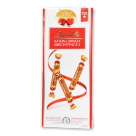 Bombones de chocolate rellenos de licor de cereza Lindt 125 g.